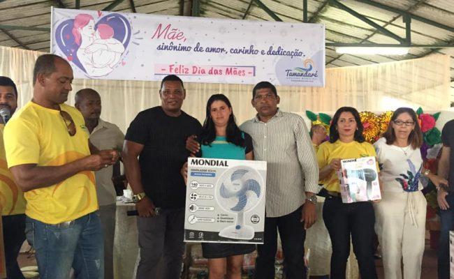 VEREADORES PARTICIPAM DA FESTA EM COMEMORAÇÃO AO DIA DAS MÃES NO DISTRITO DE SAUÉ – USINA SANTO ANDRÉ.