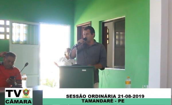 Sessão Ordinária da Câmara Municipal de Tamandaré 21/08/2019.