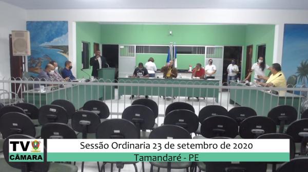 Sessão Ordinária da Câmara 23 de Setembro de 2020.