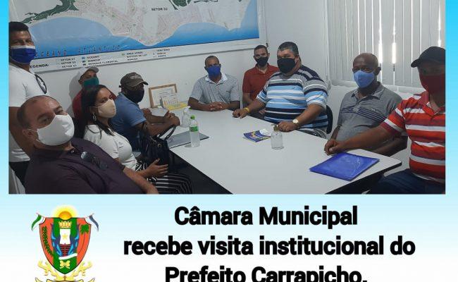 Presidente da Câmara, Cinho, recebeu a visita institucional do Prefeito Carrapicho